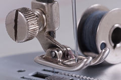 Old sewing machine. Detail macro Royalty Free Stock Photography