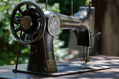 Old sewing-machine Royalty Free Stock Images