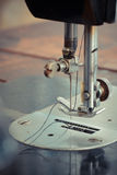 Old sewing machine. At home Royalty Free Stock Photos