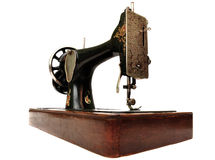 Old sewing machine isolated Royalty Free Stock Images
