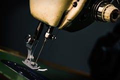 Old Sewing Machine - macro photo Royalty Free Stock Photo