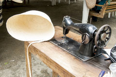 Old Sewing Machine - Panama Hats Manufacture Royalty Free Stock Image