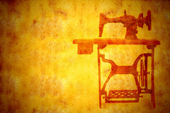 Old sewing machine, vintage background Royalty Free Stock Image