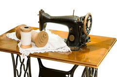 The old sewing machine Stock Photos