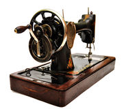 Old sewing machine on white Stock Photography
