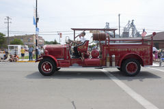 Old Seymour Fire Department Number 1 Truck Passing By Royalty Free Stock Photos