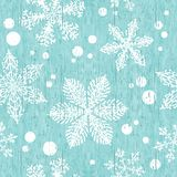 Old shabby background with snowflakes. Seamless christmas texture. Endless texture for wallpaper, fill, web page background, vector illustration
