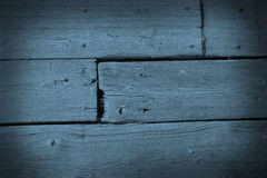Old shabby blue wooden floor Royalty Free Stock Photo