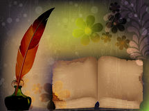 Old shabby book of fairy tales Royalty Free Stock Photo