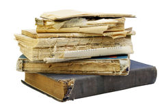 The old shabby  books Stock Photography