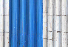 Old and shabby corrugated metal roof texture. Royalty Free Stock Images