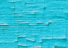 Old shabby crackled blue wall surrface. Old shabby crackled color paint wooden wall surrface Stock Image