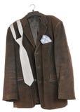 Old shabby dirty velveteen  jacket Stock Photo