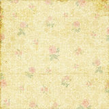 Old shabby faded rose wallpaper Stock Photo