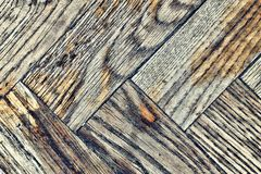 Background texture of old shabby wooden parquet Stock Images