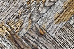 Wooden planks texture. Old and shabby floor.  Background texture of old shabby wooden parquet Stock Photography
