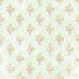 Old shabby flower wallpaper vector illustration