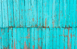 Old shabby painted fence. Rural abstract backgrounds Royalty Free Stock Photo