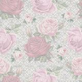 Old shabby rose lace pattern wallpaper Royalty Free Stock Photography