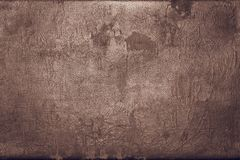Old shabby skin of dark copper color with gloss Stock Images