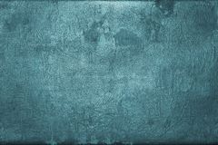Old shabby skin of dark turquoise color with gloss Royalty Free Stock Photo