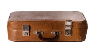 Old shabby suitcase Stock Photos