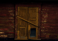 Old shabby wood closed window Royalty Free Stock Images