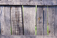 Old shabby wooden fence. Rural abstract backgrounds Royalty Free Stock Image
