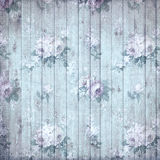 Old shabby wooden flower background Royalty Free Stock Photography