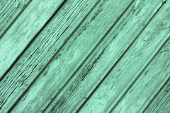 Old shabby wooden planks with cracked paint, retro wood background Stock Photos