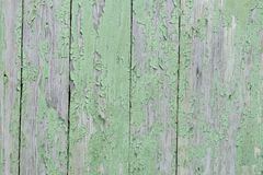 Old shabby wooden wall painted green background Stock Photo