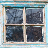Old Shabby Wooden Window Frame Royalty Free Stock Images