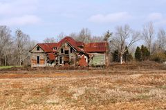 Old shack. Of a house in field Royalty Free Stock Photos