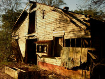 Old Shack. Cool shot of an old run down shack in the middle of the woods.  Captured near Innovation Park in Tallahassee, FL Royalty Free Stock Photos