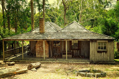 Old pioneer cottage in Australia Stock Photos