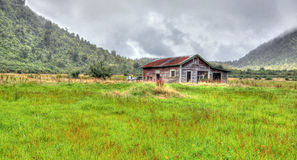 Old Shack in the Mountains. An old shack in the New Zealand mountains Royalty Free Stock Photo