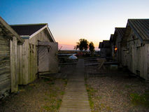 Old shacks and warehouses. On an island in the Baltic Sea Stock Photos