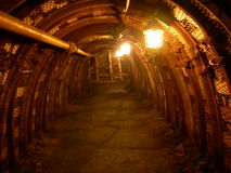 Old shaft mine. Shaft mine pit colliery dark Royalty Free Stock Images