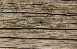 Old shaky weathered wooden board Royalty Free Stock Photo