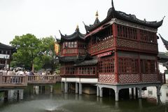 Old Shanghai city. Buildings and architecture royalty free stock photos