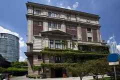 The old Shanghai Museum of art Royalty Free Stock Images