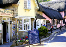 Old Shanklin, Isle of Wight. Thatched  Pencil Cottage and cafe in the old part of Shanklin, Isle fo Wight, England, UK Royalty Free Stock Photo