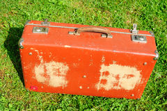 Old shattered suitcase Stock Images