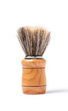 Old shaving brush isolated on white background Stock Photography