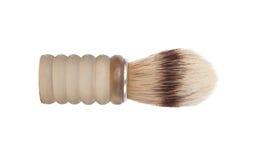Old shaving brush isolated on white Royalty Free Stock Images