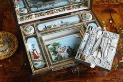 Old shaving kit at Tsarskoye Selo Pushkin Palace Royalty Free Stock Photo