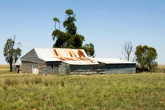 Old Shearing Shed. An old shearing shed on a farm in a remote area of South-Western New South Wales, Australia Royalty Free Stock Image