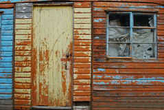 An old shed. An old colorful shed as background Stock Image