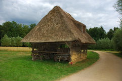 Old shed. Old shed in the meadow, rural scene in belgium Stock Photography