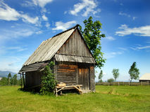 Old Shed. An old shed somewhere near Cluj Napoca in Dealu Negru, a very peacefull place...and it has alot rural features Royalty Free Stock Photos